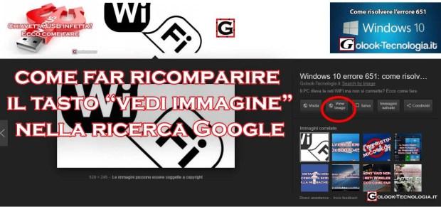 tasto vedi immagine ricerca google