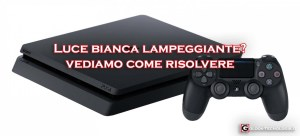 ps4 luce bianca lampeggiante