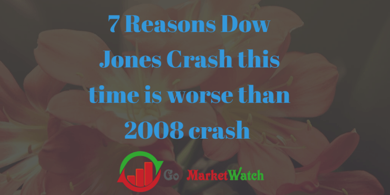 7 Reasons Dow Jones Crash this time is worse than 2008 crash