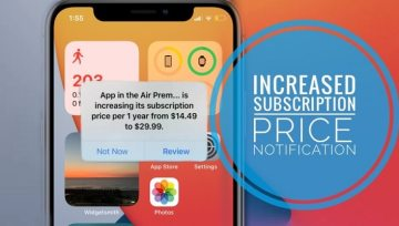APP STORE INCREASED SUBSCRIPTION PRICE PROMPT IN IOS 14