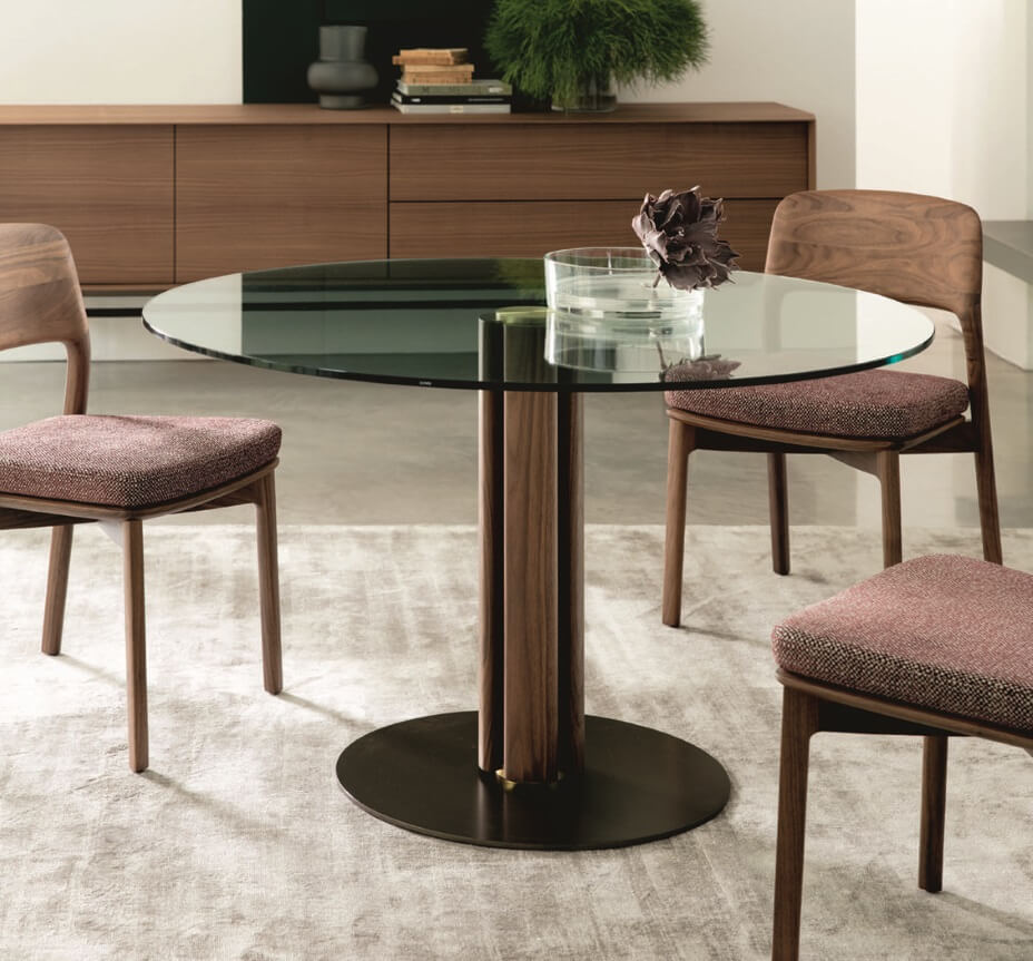 Porada Quadrifoglio Small Round Dining Table Porada Tables Porada Furniture
