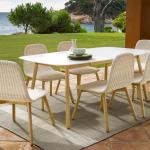 Round Garden Dining Table Contemporary Garden Furniture At Go Modern