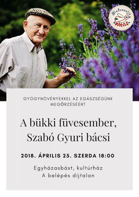 Szabó Gyuri bácsi előadása Egyházasbáston