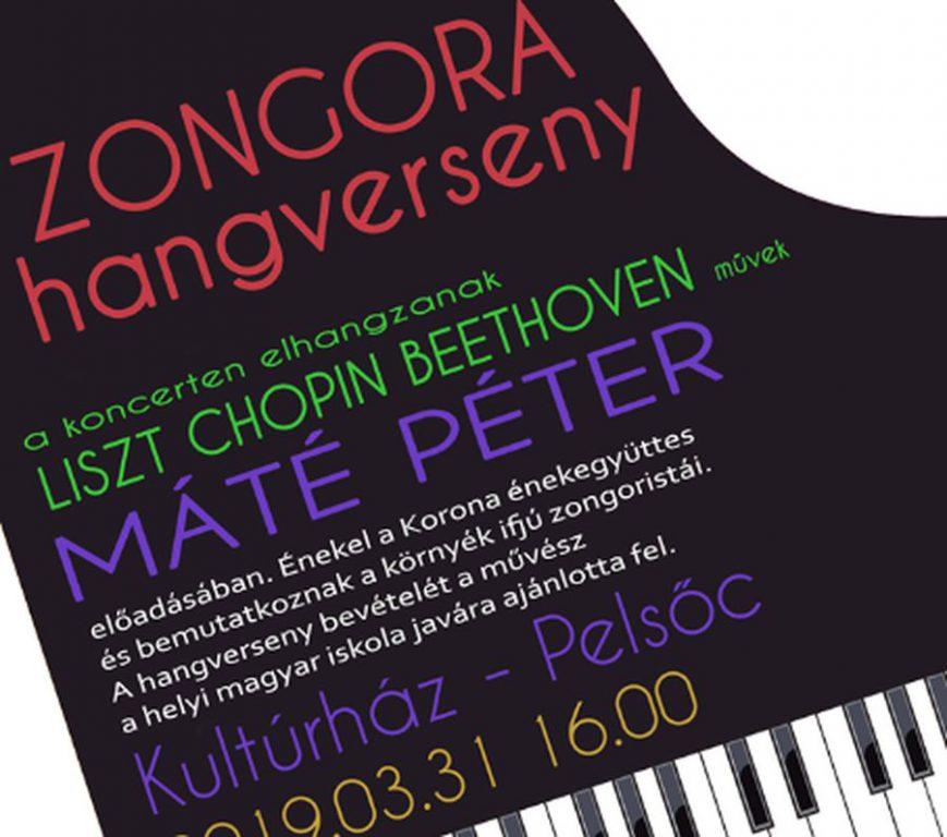 Zongorahangverseny Máté Péterrel Pelsőcön
