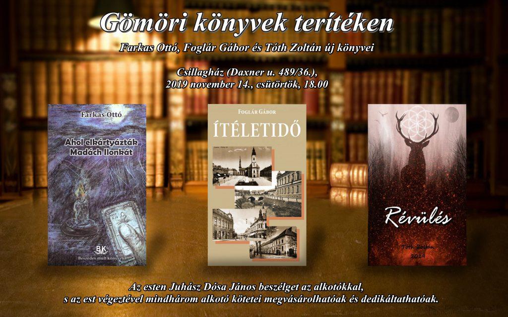 Gömöri könyvek terítéken