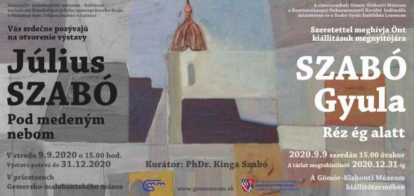 Szabó Gyula - Réz ég alatt c. kiállítása Rimaszombatban
