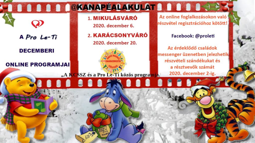 @KANAPÉALAKULAT - A Pro Le Ti karácsonyvárója