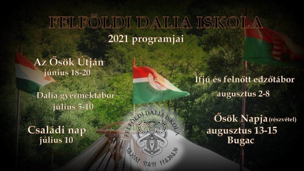 A Felföldi Dalia Iskola 2021-es nyári programjai