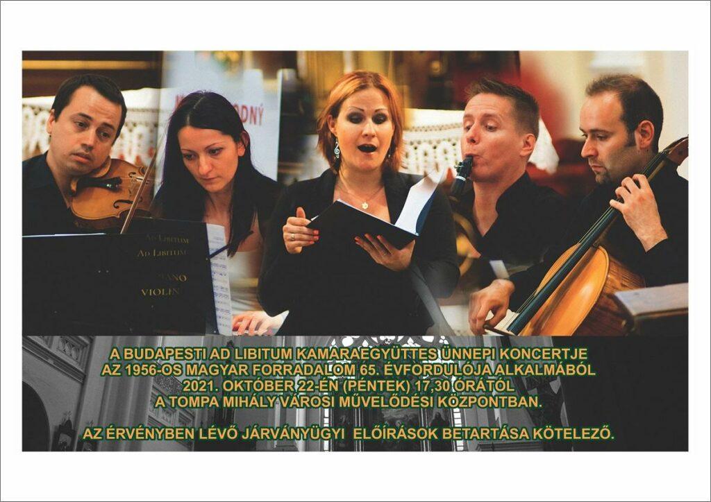 Az Ad Libitum kamaraegyüttes koncertje Tornalján