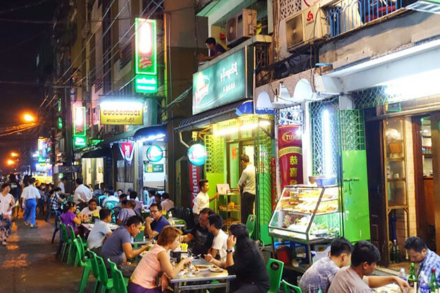 Top 10 Best Food Shops in Yangon for Night Owls - Myanmar Tours