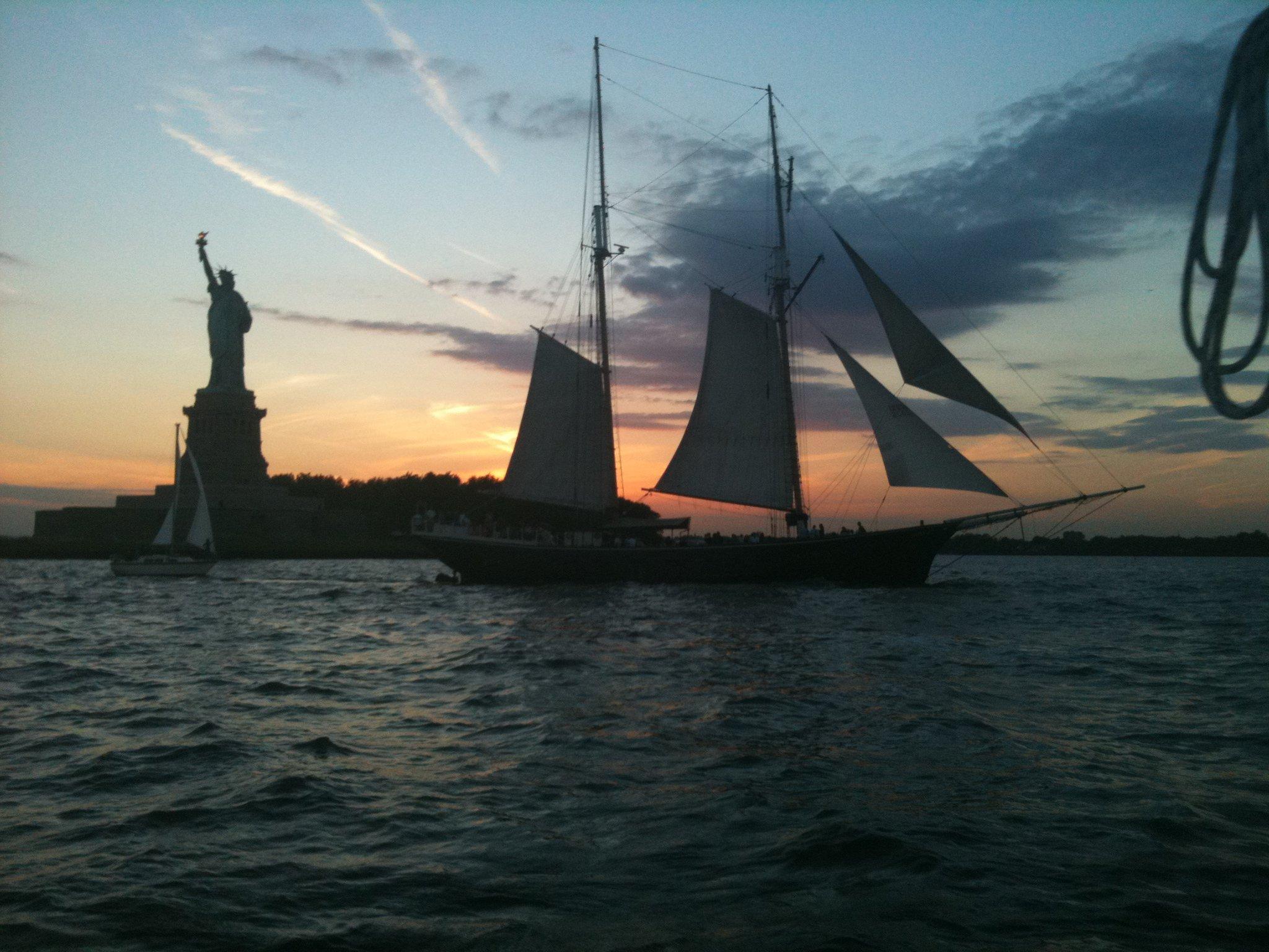 Sailing Hudson River New York Harbor