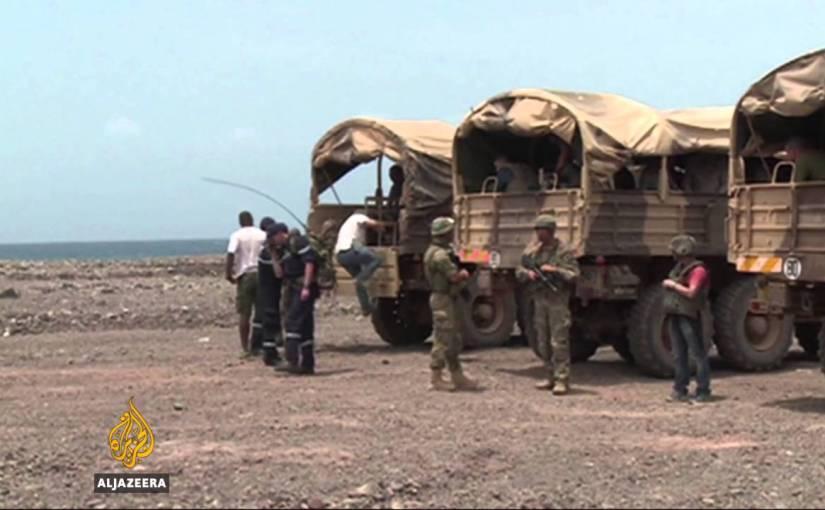 Why did Qatar leave the Djibouti-Eritrea border?