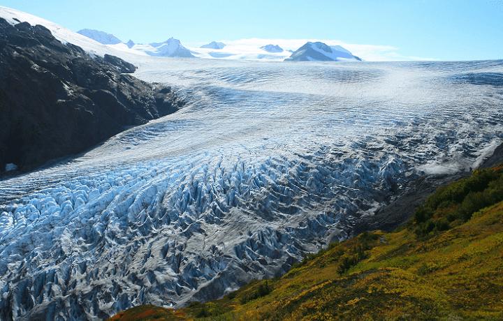 The spectacular Exit Glacier in Alaska