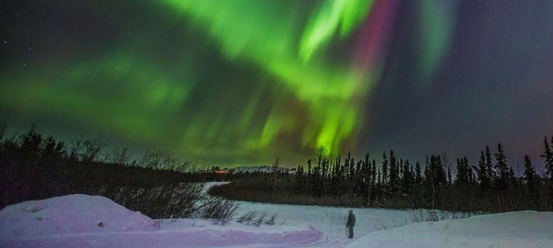 Picture of the Northern Lights in Alaska