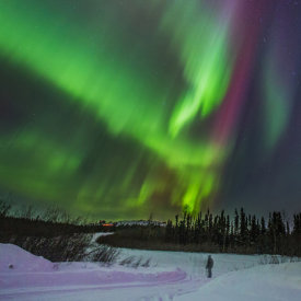 Aurora Viewing from Nearby Trails