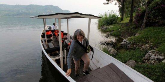 Exploring an island in Lake Kivu
