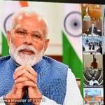 प्रधानमंत्री नरेन्द्र मोदी ने आज सभी राज्यों के मुख्यमंत्रियों के साथ वीडियो कॉन्फ्रेंस कर कोरोना से बचाव के लिए लागू लॉक डाउन के संबंध में जानकारी ली
