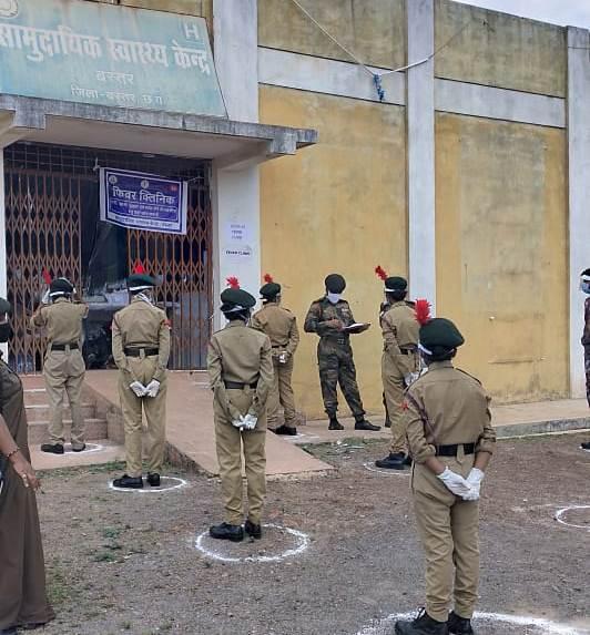 ncc-cadets-jagdalpur-corona-fighters