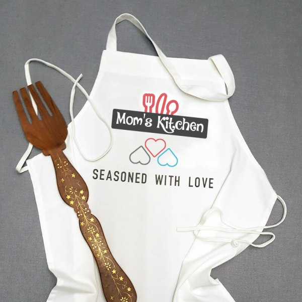 """An Awesome """"One size fits all"""" Mom's personalized Apron for SALE with 40% OFF and FREE Shipping for a limited time."""