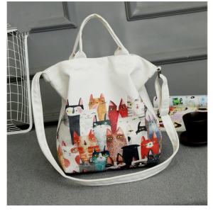 Cat lovers artistically designed shoulder bag for women