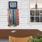Bibfolio Race Bib And Medal Display Adventure Is Where You Find It Gone For A Run