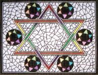 Jewish Star tallit