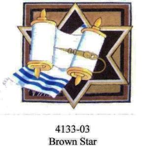 Brown Star Tallit