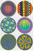 Zecca Colorful Circles Purple