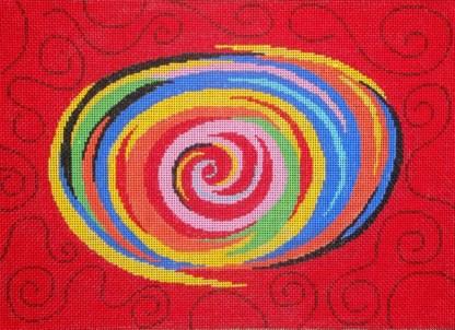 Bright Colors Swirl Tallit