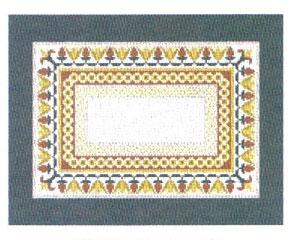 Lotus Border Tallit