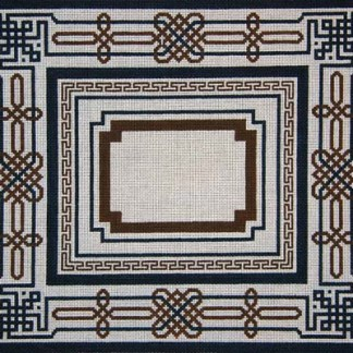 Brown and Navy Border Tallit