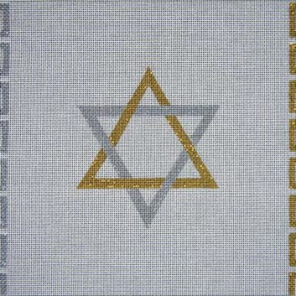 Silver & Gold Star of David Tallit Bag
