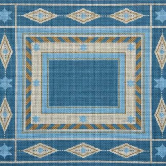 Blue Diamonds and Flowers Tallit