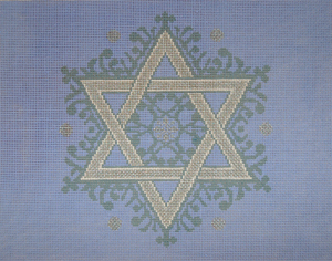 Fancy Star Tallit Periwinkle/Silver