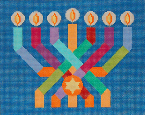 Ribbon Menorah Tallit