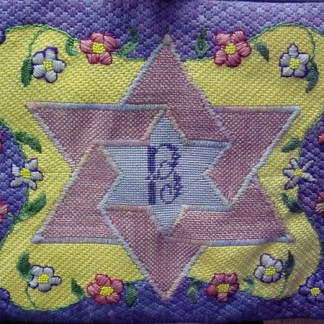 Star of David Flowers Tefillin