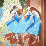Ballerinas (Adapted from Degas)