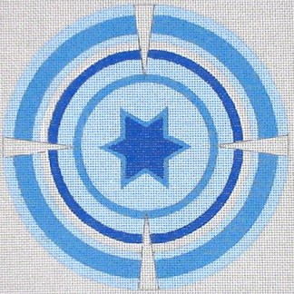Blue Kippah with Star