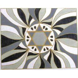 Star of David Tallit in Gray