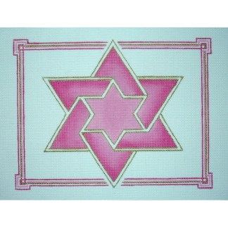 Double Star Tallit in pink