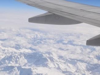 Trafic aerian în condiții de iarnă. FOTO Amber90