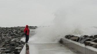 Plaja 3 Papuci din Constanța pe timp de furtună. FOTO Cătălin Schipor