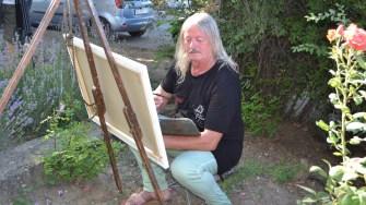 Pictorul Mihai Șerbănescu. FOTO gonext.ro