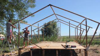 Construcție turistică în Lunca, județul Tulcea. FOTO Paul Alexe