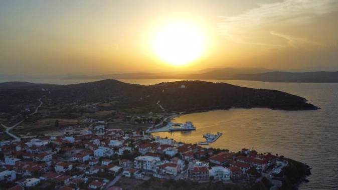 Vedere din Insula Ammouliani. FOTO Ovidiu Oprea