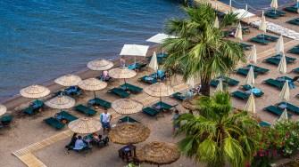 Vedere din Orka Lotus Beach, un resort de cinci stele, din Marmaris. FOTO Paul Alexe