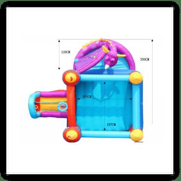Saltarello Gonfiabile draghetto multigioco scivolo saltarello gonfiabile piscina per bambini offerta online (5)