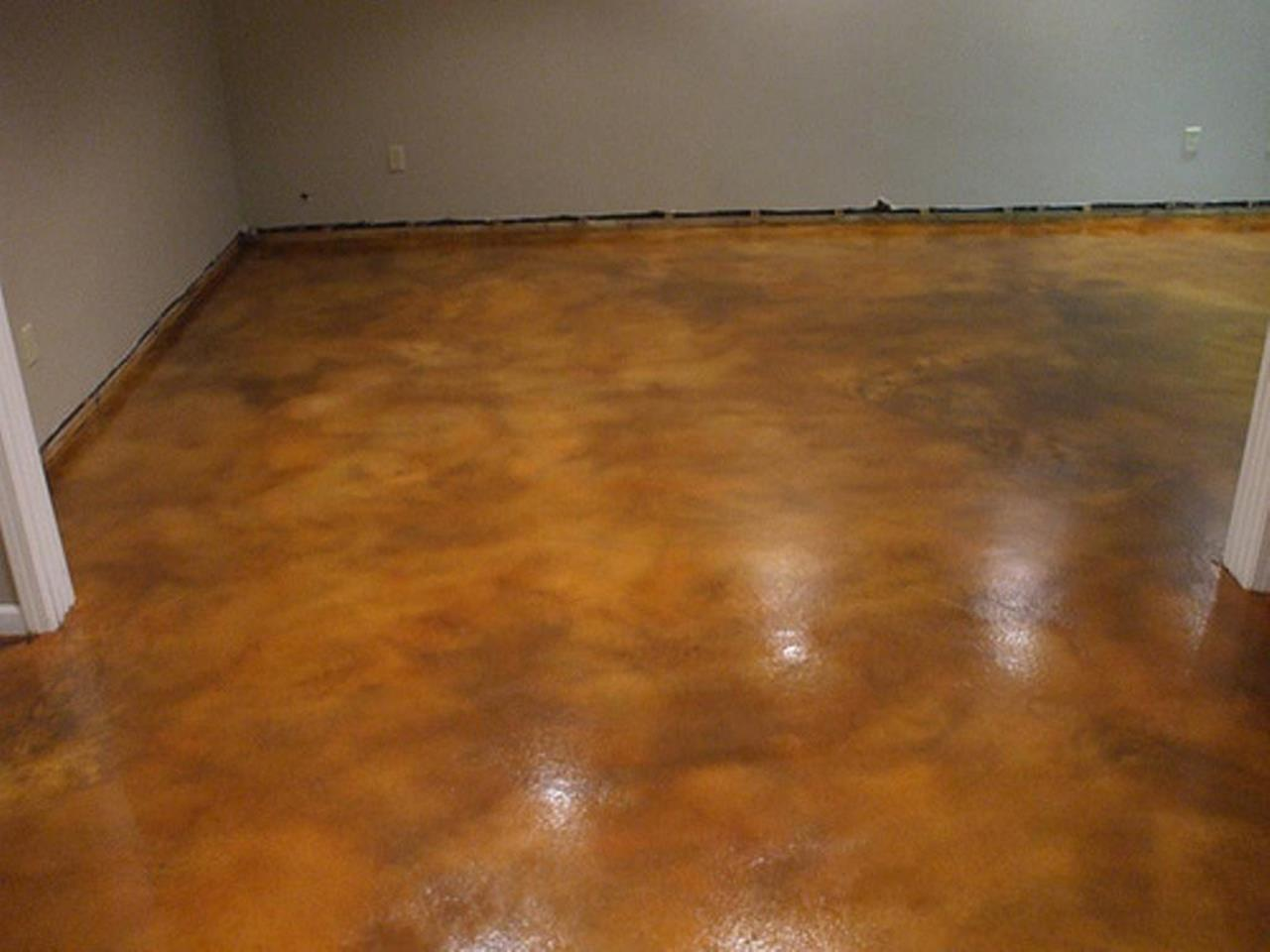 Basement Concrete Floor Paint Color Ideas 17