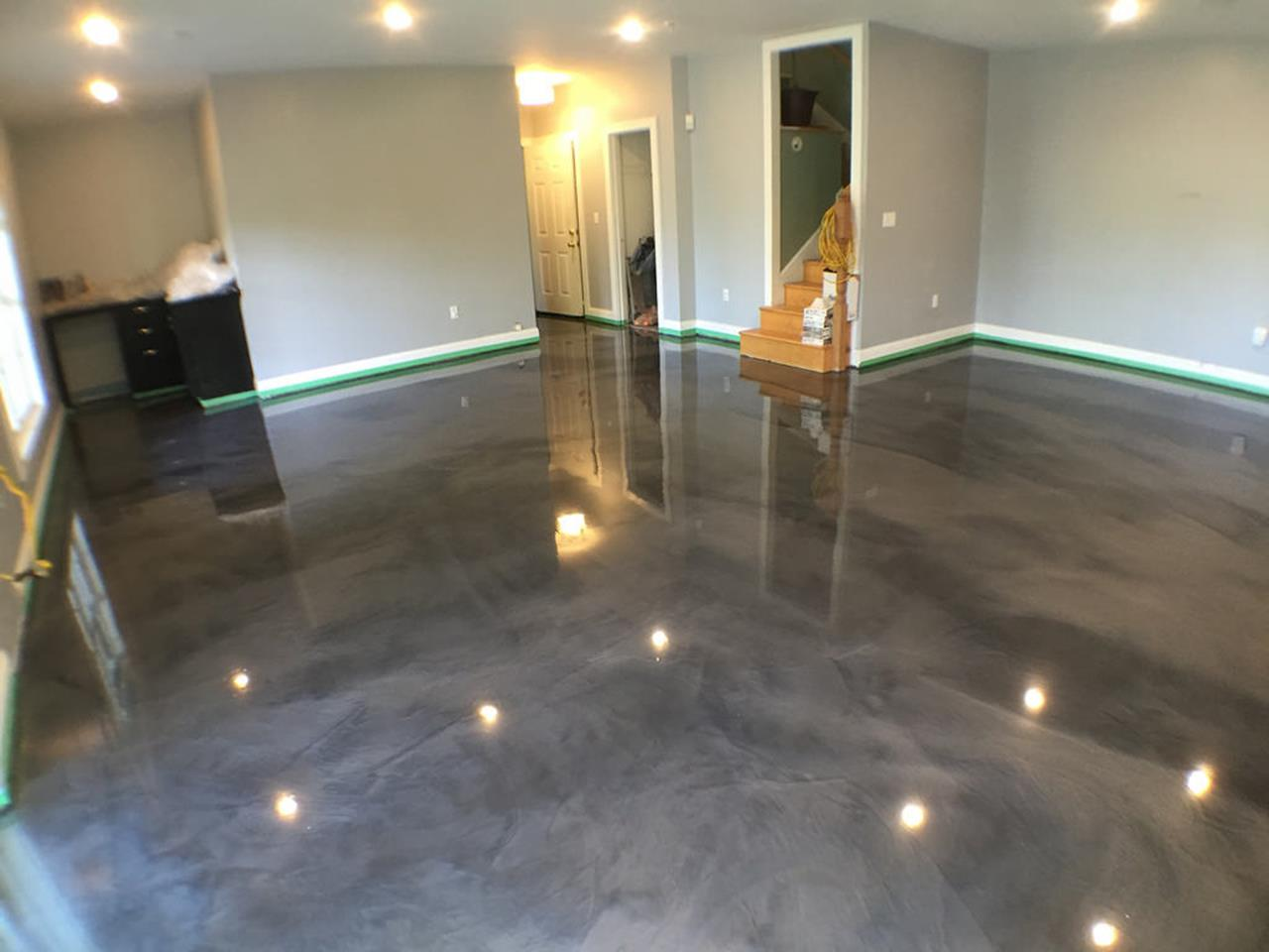 Basement Concrete Floor Paint Color Ideas 2