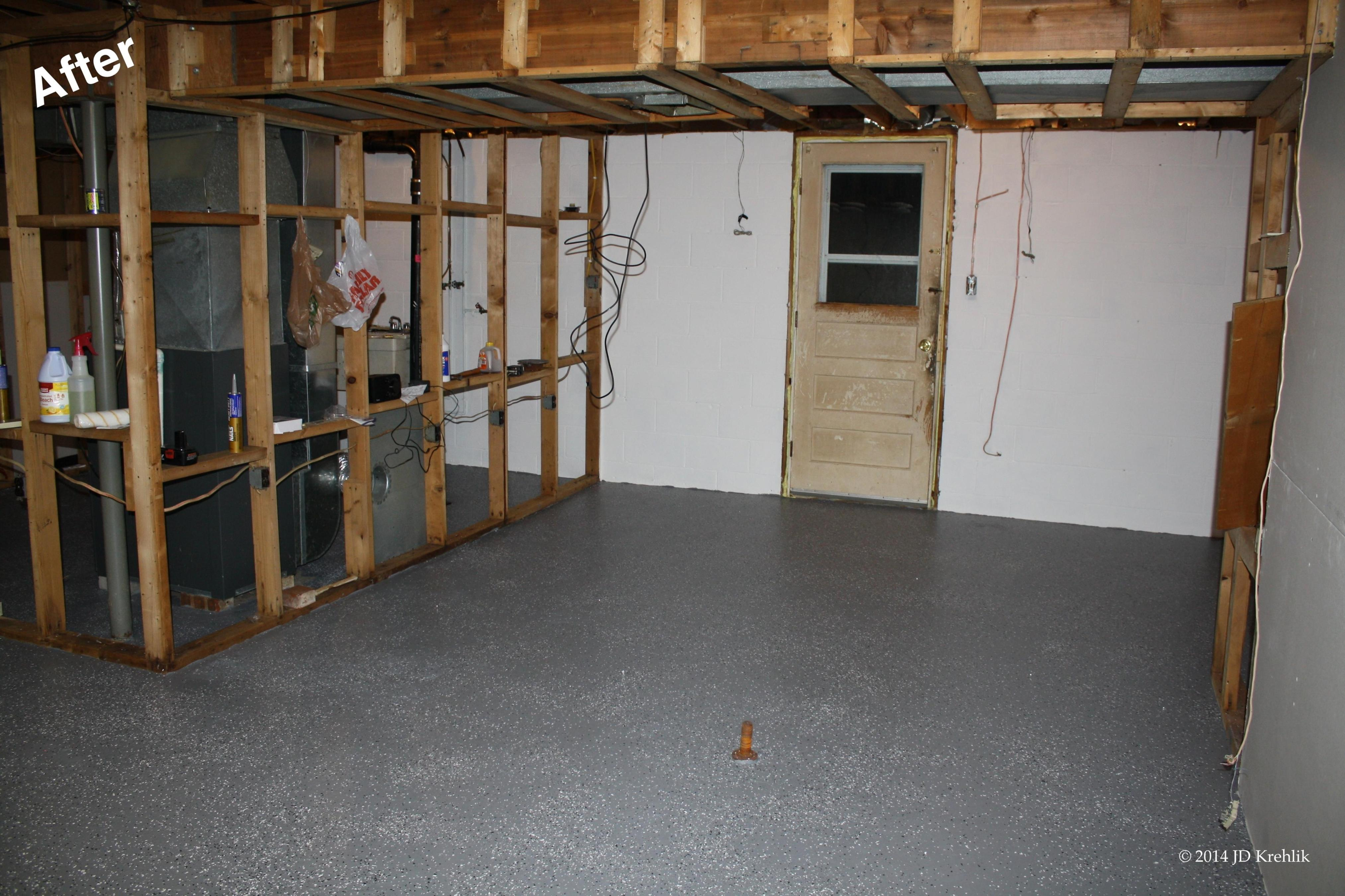 Basement Concrete Floor Paint Color Ideas 30